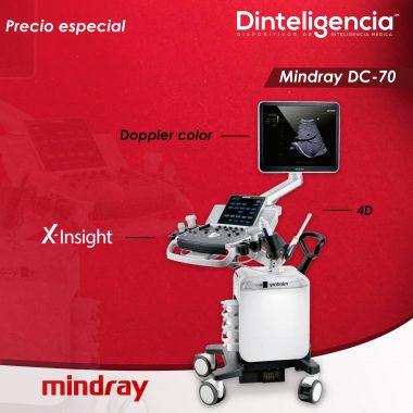 mindray dc70 rojo y blanco